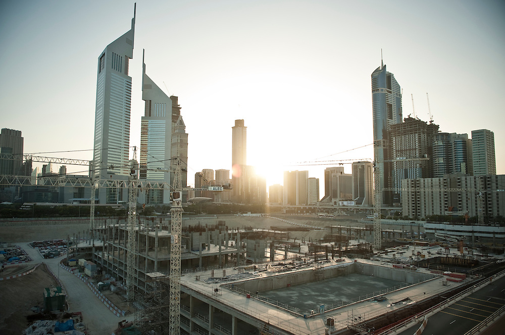 A view of the, reportedly delayed, Dubai World Trade centre district project in Dubai, UAE on February 10, 2010