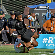 All Blacks Joe Ravouvou scores a 2nd half try in New Zealand's 33-12 World Cup Final victory over England at the World Cup 7's USA, AT&T Park, San Francisco, California, USA.  Photo by Barry Markowitz, 7/22/18 6pm