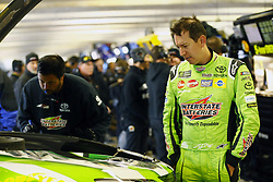 April 7, 2018 - Ft. Worth, Texas, United States of America - April 07, 2018 - Ft. Worth, Texas, USA: Kyle Busch (18) hangs out in the garage during practice for the O'Reilly Auto Parts 500 at Texas Motor Speedway in Ft. Worth, Texas. (Credit Image: © Chris Owens Asp Inc/ASP via ZUMA Wire)