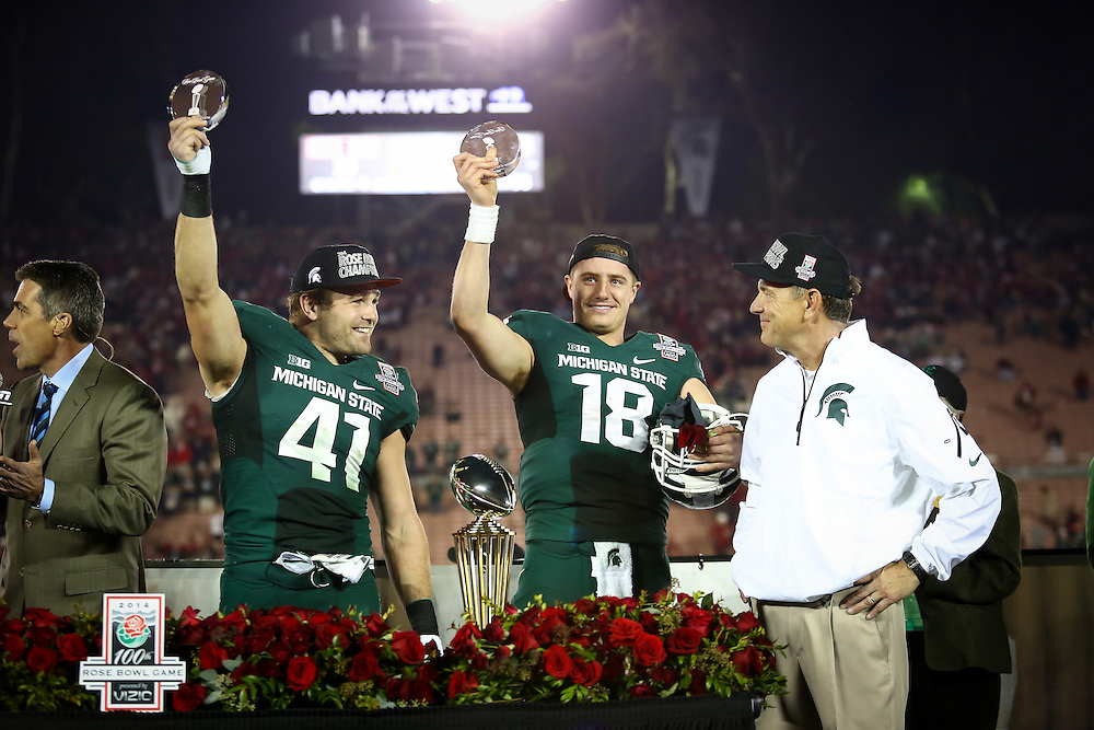 01.01.14_MSU FTBL VS STANFORD (ROSEBOWL)<br /> Photo Credit: Matthew Mitchell/MSU Athletic Communications
