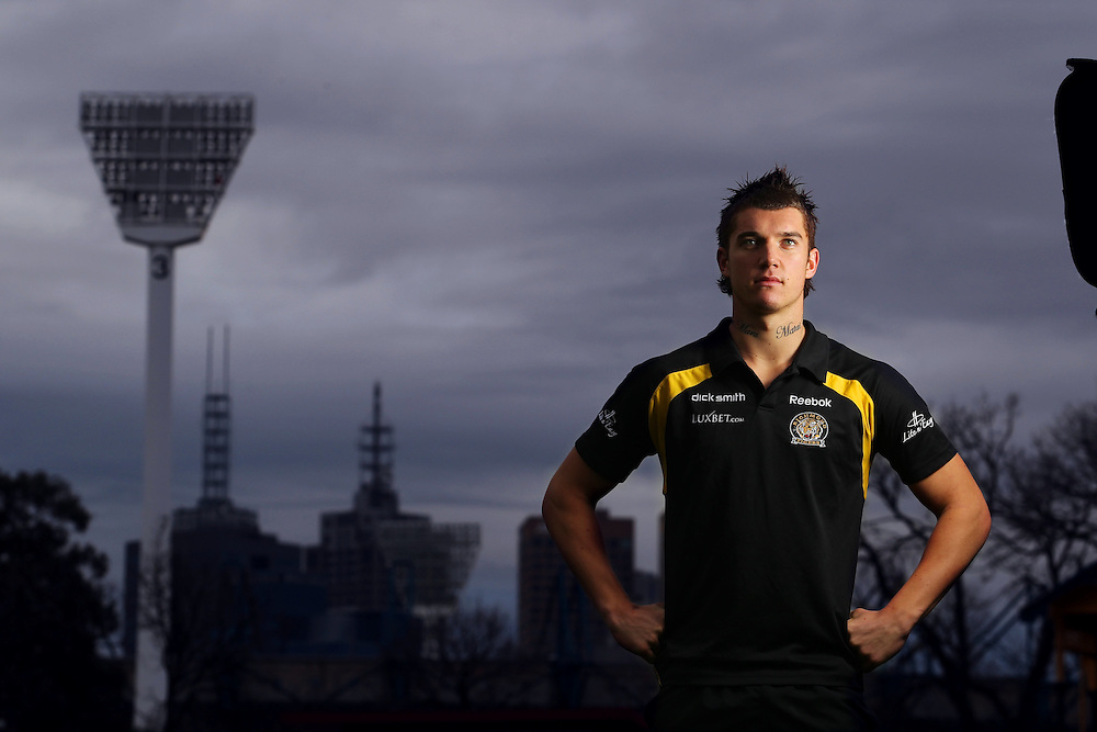 Richmond player Dustin Martin  - Pic By Craig Sillitoe 29/07/2010 melbourne photographers, commercial photographers, industrial photographers, corporate photographer, architectural photographers, This photograph can be used for non commercial uses with attribution. Credit: Craig Sillitoe Photography / http://www.csillitoe.com<br />