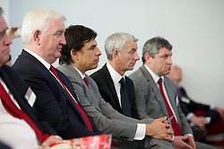 NEWPORT, WALES - Saturday, April 20, 2013: Wales manager Chris Coleman with Ian Rush at the opening of the FAW National Development Centre in Newport. (Pic by David Rawcliffe/Propaganda)