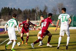 Žan Rogelj of Triglav during Football match between NK Triglav and NK Olimpija Ljubljana in 22nd Round of Prva liga Telekom Slovenije 2018/19, on March 9, 2019, in Sports centre Kranj, Slovenia. Photo by Vid Ponikvar / Sportida