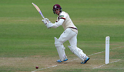 Somerset's Tom Abell flicks the ball. - Photo mandatory by-line: Harry Trump/JMP - Mobile: 07966 386802 - 06/07/15 - SPORT - CRICKET - LVCC - County Championship Division One - Somerset v Sussex- Day Two - The County Ground, Taunton, England.