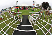 A general view of the Parade Ring prior to the Ebor Festival at York Racecourse, York, United Kingdom on 22 August 2019.