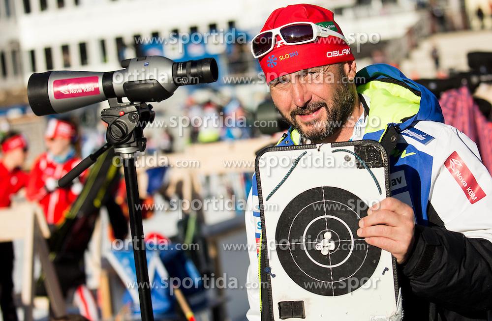 Tomas Kos, head coach of Slovenia during Women 7,5 km Sprint at day 2 of IBU Biathlon World Cup 2015/16 Pokljuka, on December 18, 2015 in Rudno polje, Pokljuka, Slovenia. Photo by Vid Ponikvar / Sportida