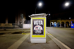 ForzaNuova electoral campaign closing rally at Primavalle, suburbs of Rome on 2 Febraury 2018. Christian Mantuano / OneShot