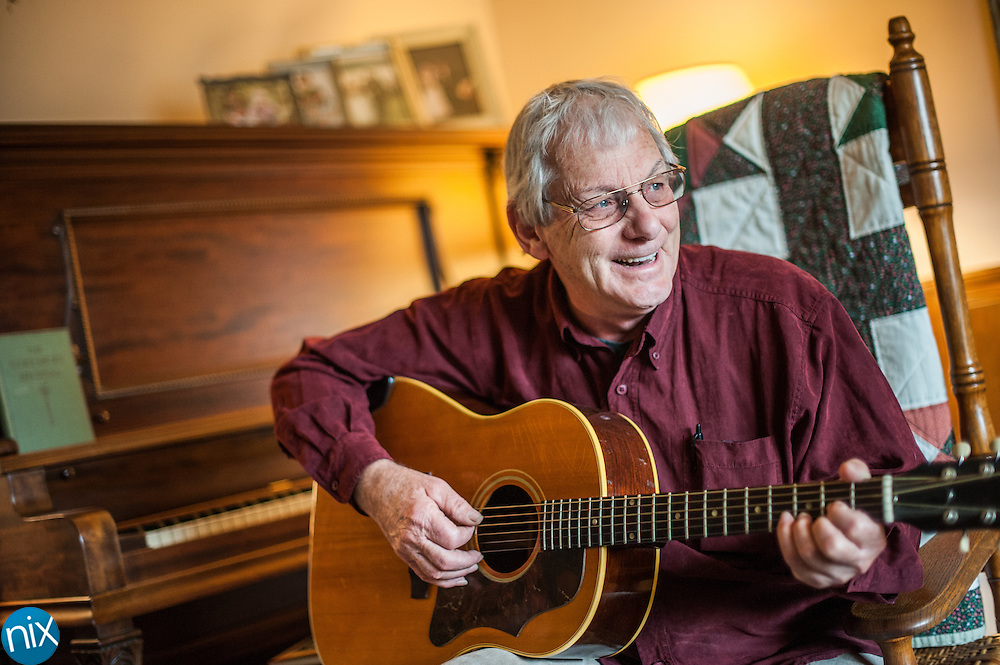 Singer-songwriter Jim Avett at his home in Concord. Avett's sons, Seth and Scott, are the base of the band The Avett Brothers.