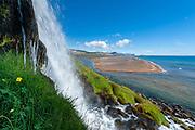 Hraunlandarif waterfall in west iceland