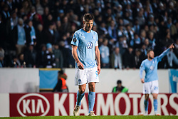 February 14, 2019 - MalmÃ, Sweden - 190214 Markus Rosenberg of Malmö FF looks dejected after Ross Barkley of Chelsea (not pictured) scored 0-1  during the Europa league match between Malmö FF and Chelsea on February 14, 2019 in Malmö..Photo: Ludvig Thunman / BILDBYRÃ…N / kod LT / 92225 (Credit Image: © Ludvig Thunman/Bildbyran via ZUMA Press)