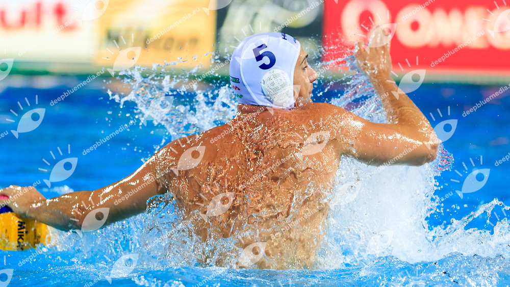Marton Vamos of Hungary<br /> Hungary (white cap) -  Russia (blue cap)<br /> Quarterfinal  Round Water Polo Women<br /> Day12  25/07/2017 <br /> XVII FINA World Championships Aquatics<br /> Alfred Hajos Complex Margaret Island  <br /> Budapest Hungary <br /> Photo @Deepbluemedia/Insidefoto Photo @Marcelterbals/Deepbluemedia/Insidefoto