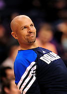 Mar. 08, 2012; Phoenix, AZ, USA;  Dallas Mavericks guard Jason Kidd (2) warms up prior to the game against the Phoenix Suns at the US Airways Center.  Mandatory Credit: Jennifer Stewart-US PRESSWIRE.