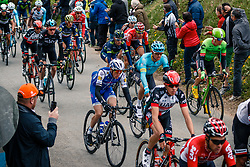 Peloton with MARTIN Daniel of Quick-Step Floors during the UCI WorldTour 103rd Liège-Bastogne-Liège from Liège to Ans with 258 km of racing at Cote de Pont, Belgium, 23 April 2017. Photo by Pim Nijland / PelotonPhotos.com | All photos usage must carry mandatory copyright credit (Peloton Photos | Pim Nijland)