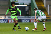 Forest Green Rovers Reuben Reid(26) passes the ball during the EFL Sky Bet League 2 match between Yeovil Town and Forest Green Rovers at Huish Park, Yeovil, England on 24 April 2018. Picture by Shane Healey.