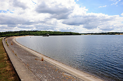 © Licensed to London News Pictures. 17/07/2018<br /> Lamberhurst, UK.<br /> Blue sky and dark clouds above Bewl Water reservoir in Lamberhurst,Kent.  The water levels in the reservoir are high.<br /> Photo credit: Grant Falvey/LNP