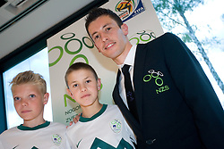 Robert Koren at official presentation of Slovenian National Football team for World Cup 2010 South Africa, on May 21, 2010 in Congress Center Brdo at Kranj, Slovenia. (Photo by Vid Ponikvar / Sportida)