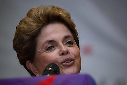 December 9, 2016 - Sao Paulo, Brazil - DILMA ROUSSEFF, former president of Brazil attends a conference to discuss the political situation in South America. The event took place in Sao Paulo on the night of this Friday and had the participation of militants of the PT (Workers Party) (Credit Image: © Paulo Lopes via ZUMA Wire)