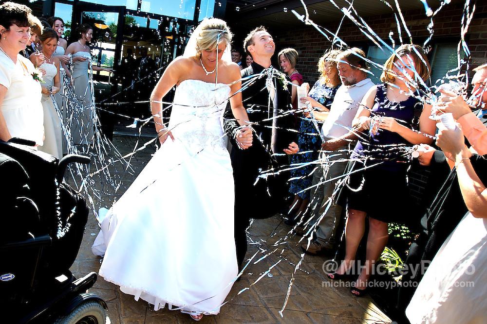 Wedding of Nicole Henseleit and Matt Geary in Kokomo, Indiana.