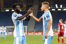 (L-R) Felipe Caicedo of SS Lazio, Ciro Immobile of SS Lazio during the UEFA Europa League group K match between Lazio Roma and Zulte Waregem at Stadio Olimpico on September 28, 2017 in Rome, Italy