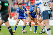 Doncaster RLFC interchange Kieran Cross (15) at the play the ball during the Challenge Cup 2018 match between Doncaster and Featherstone Rovers at the Keepmoat Stadium, Doncaster, England on 22 April 2018. Picture by Simon Davies.