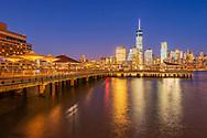 Jersey City Waterfront, Lower Manhattan Skyline, NYC< NY