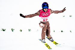 February 8, 2018 - Pyeongchang, SOUTH KOREA - 180208 Kamil Stoch of Poland competes during the Men's Normal Hill Individual Qualification ahead of the 2018 Winter Olympics on February 8, 2018 in Pyeongchang..Photo: Jon Olav Nesvold / BILDBYRN / kod JE / 160146 (Credit Image: © Jon Olav Nesvold/Bildbyran via ZUMA Press)
