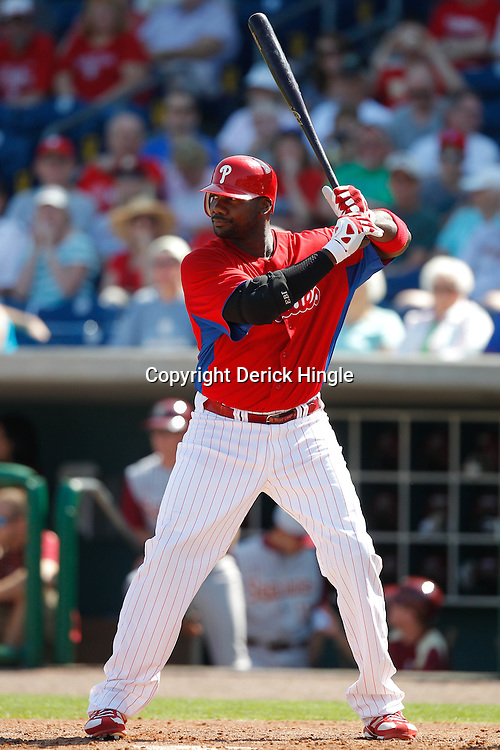 February 24, 2011; Clearwater, FL, USA; during a spring training exhibition game against the Florida State Seminoles at Bright House Networks Field. Mandatory Credit: Derick E. Hingle