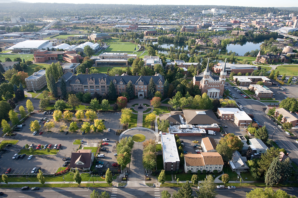 Aerial photo of Gonzaga looking South
