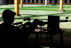 Franc Pinter - Anco of Slovenia during Practice session of R7 - Men's 50m Rifle 3 Positions SH1 on day 4 during the Rio 2016 Summer Paralympics Games on September 11, 2016 in Olympic Shooting Centre, Rio de Janeiro, Brazil. Photo by Vid Ponikvar / Sportida