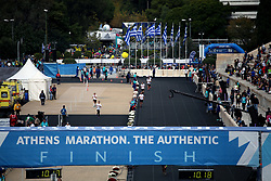 November 12, 2017 - Athens, Attica, Greece - Runners entering the Panathenaic stadium at the 35th Athens Classic Marathon in Athens, Greece, November 12, 2017. (Credit Image: © Giorgos Georgiou/NurPhoto via ZUMA Press)