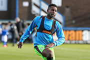 Forest Green Rovers Dale Bennett(6) warming up during the FA Trophy match between Macclesfield Town and Forest Green Rovers at Moss Rose, Macclesfield, United Kingdom on 4 February 2017. Photo by Shane Healey.