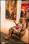 BASIA BRIGGS at the preview of LAPADA Art and Antiques Fair. Berkeley Sq. London. 23 September 2014.