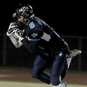 Hoggard's Evan Allegret settles a reception against South Central High School in the first round of football playoffs Friday November 14, 2014. (Jason A. Frizzelle)