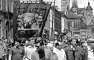 North East Area Branch banner. 1993 Yorkshire Miner's Gala. Wakefield
