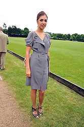 AMBER LE BON at a charity polo match organised by Jaeger Le Coultre was held at Ham Polo Club, Richmond, Surrey on 12th June 2009.