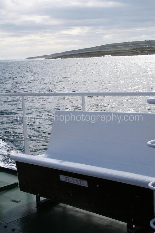 Aran Island ferry in county galway Ireland