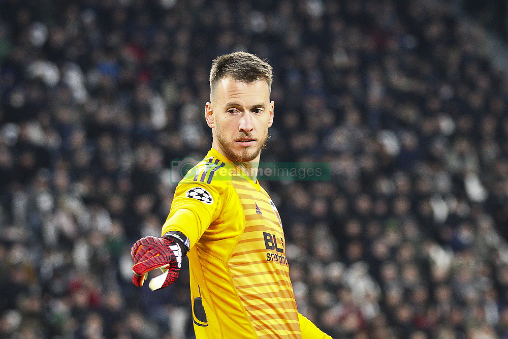November 27, 2018 - Turin, Italy - Valencia goalkeeper Norberto Neto (13) during the Uefa Champions League Group Stage football match n.5 JUVENTUS - VALENCIA on 27/11/2018 at the Allianz Stadium in Turin, Italy. (Credit Image: © Matteo Bottanelli/NurPhoto via ZUMA Press)