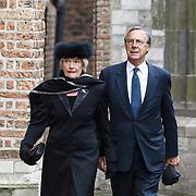 NLD/Delft/20131102 - Herdenkingsdienst voor de overleden prins Friso, Laurens Jan Brinkhorst en partner Jantien Heringa