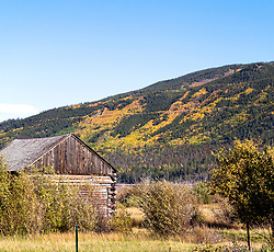 Golden aspens color the flanks of Twin Lakes, west of Granite on Colorado State Highway 82 and one of the highlights of Colorado's Top of the Rockies Scenic Byway.