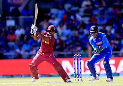 West Indies' Nicholas Pooran in action during the ICC Cricket World Cup group stage match at Emirates Old Trafford, Manchester.