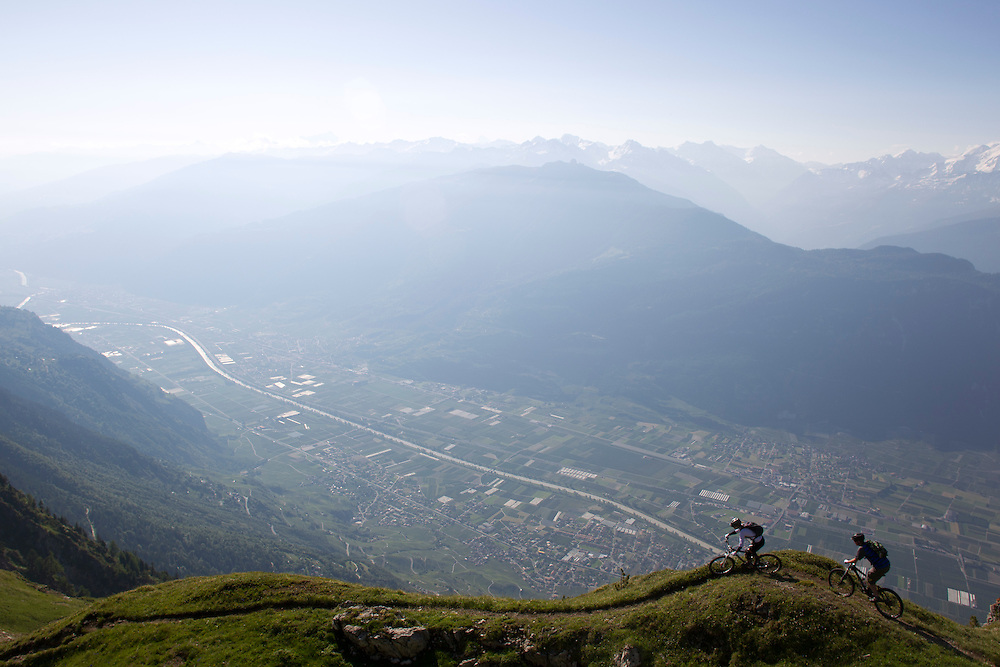 Rider Myriam Saugy and Thomas Giger  Location Valais (Switzerland)