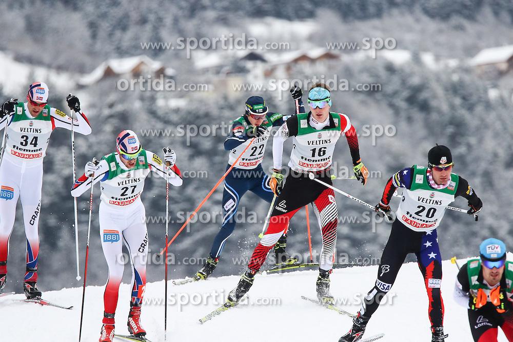 30.01.2015, Langlaufzentrum, Lago di Tesero, ITA, FIS Weltcup Nordische Kombination, Val di Fiemme, Langlauf, im Bild Bryan Fletcher (USA) Harald Lemmerer (AUT) Gasper Berlot (SLO) Joergen Graabak (NOR) Magnus H. Moan (NOR)  //  during Cross Country of the FIS Nordic Combined World Cup Val di Fiemme at the Langlaufzentrum in Lago di Tesero, Italy on 2015/01/30. EXPA Pictures © 2015, PhotoCredit: EXPA/ Alice Russolo