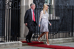 London, UK. 4 June, 2019. White House Advisor Ivanka Trump and US National Security Advisor John Bolton leave 10 Downing Street following lunch and bilateral talks between Prime Minister Theresa May, President Trump and their respective delegations on the second day of the US state visit.
