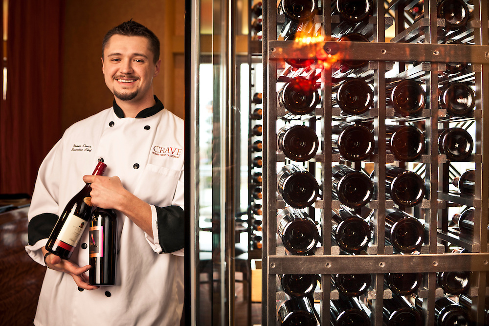 22 November 2010- Chef James Davis is photographed at CRAVE in Midtown Crossing for Omaha Magazine.