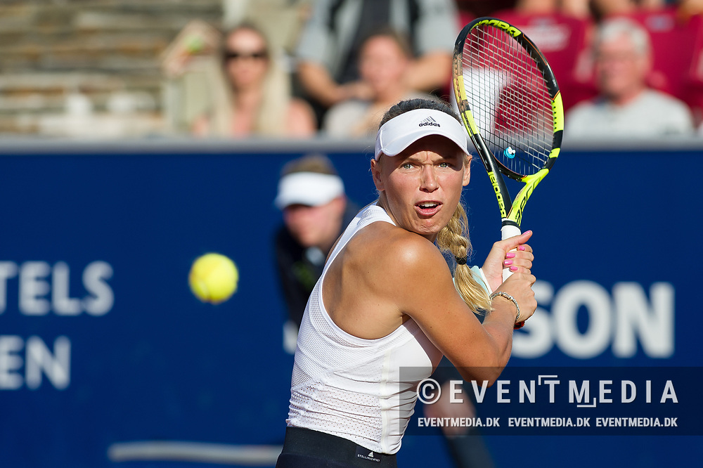 Caroline Wozniacki (Denmark)  at the 2017 WTA Ericsson Open in Båstad, Sweden, July 30, 2017. Photo Credit: Katja Boll/EVENTMEDIA.