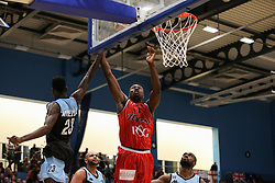 Daniel Edozie of Bristol Flyers attempts a shot - Photo mandatory by-line: Arron Gent/JMP - 28/04/2019 - BASKETBALL - Surrey Sports Park - Guildford, England - Surrey Scorchers v Bristol Flyers - British Basketball League Championship