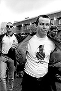 British National Party (BNP) member wearing anti-IRA T-shirt 25/04/1993