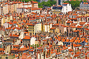 Old town Vieux Lyon from Fourvière Hill, France (UNESCO World Heritage Site)