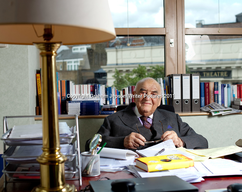 Lord Weidenfeld, publisher, in his Central London Office