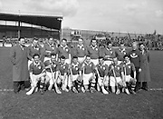 Interprovincial Railway Cup Hurling Semi-final,.Leinster v Munster, .Munster Team.17.03.1955, 03.17.1955, 17th March 1955,